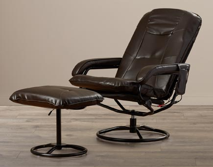 Heated Leather Massage Chair