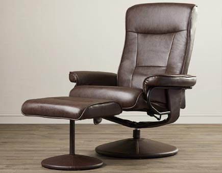 Holden Heated Faux Leather Massage Chair