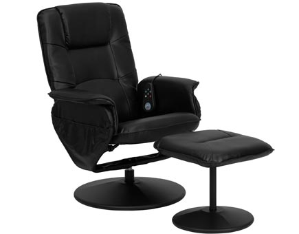 Leather Heated Reclining Massage Chair